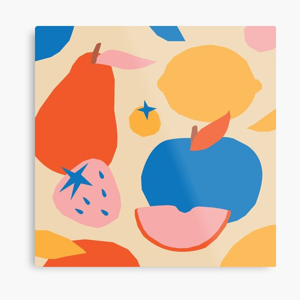 Fruits popart collage Metal Print