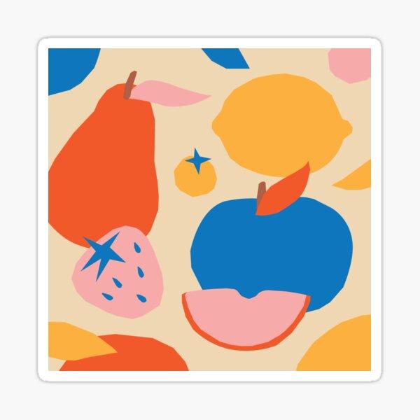 Fruits popart collage Sticker