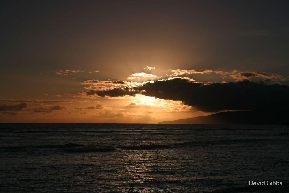 Sunset from Kamaole Beach by David Gibbs