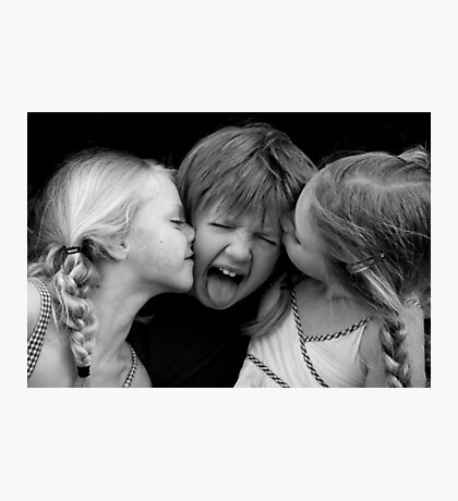 Unwanted Kisses Photographic Print