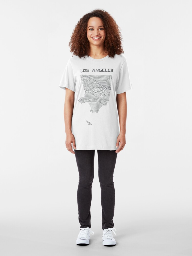 Alternate view of Unknown Elevations - Los Angeles (grey) Slim Fit T-Shirt