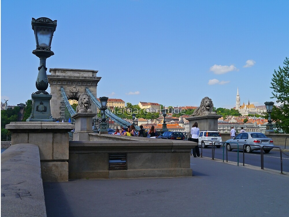 Chain Bridge, Budapest, Hungary by Margaret  Hyde