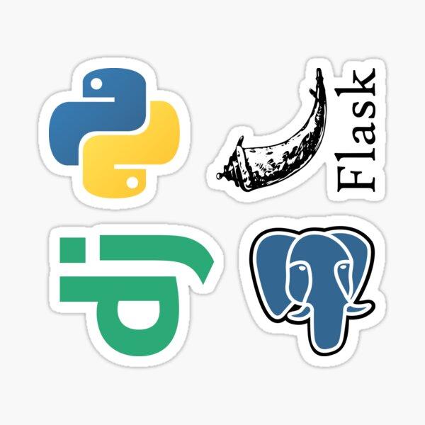 Paquete combinado de desarrollo web de Python Pegatina