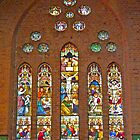 Altar window, Christ Church Cathedral, Grafton, Nsw, Australia by Margaret  Hyde