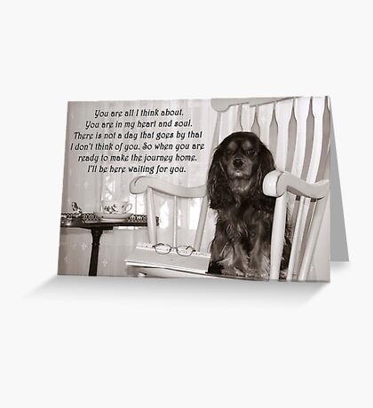 Missing You Card Greeting Card