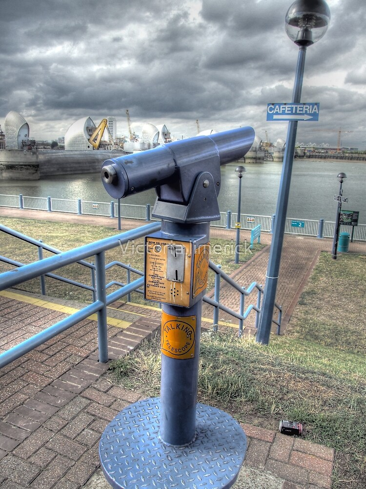 Talking Telescope - Thames Barrier by Victoria limerick