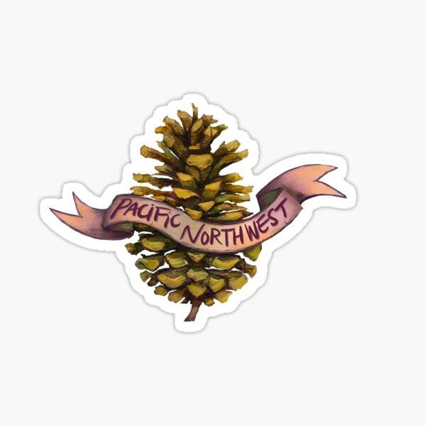 Pacific Northwest Pine cone Sticker
