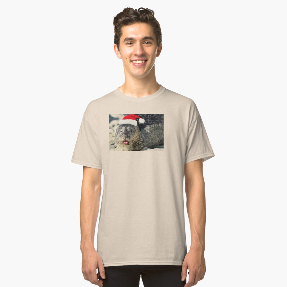 Holiday Harbor Seal Classic T-Shirt