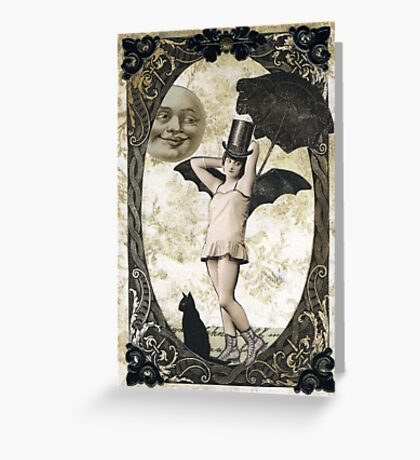 Halloween Moonlight Stroll Greeting Card