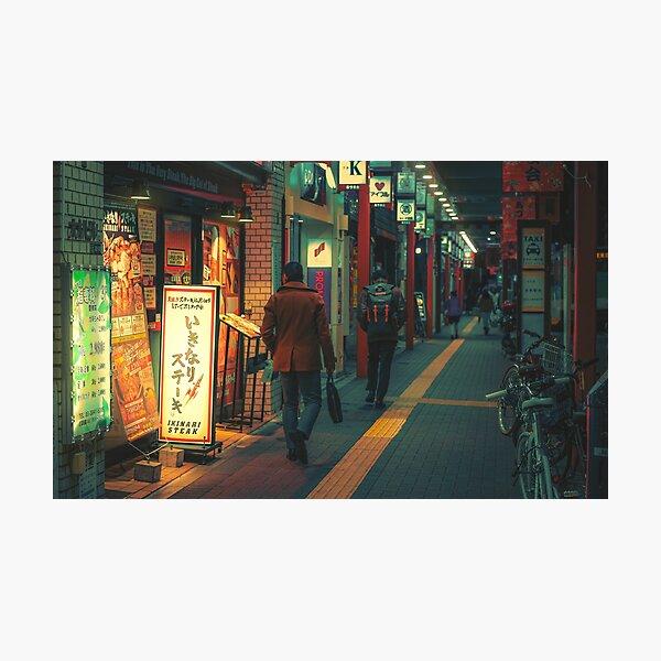 Passerby- Japan Night Photo Photographic Print