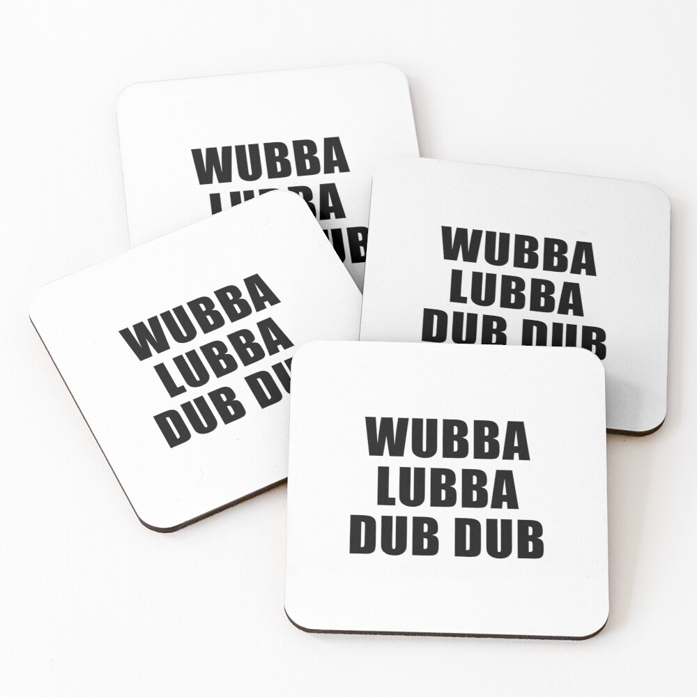 Wubba Lubba Dub Dub Coasters (Set of 4)