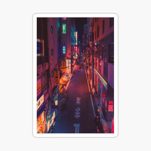 The Future- Japan Night Photo Sticker