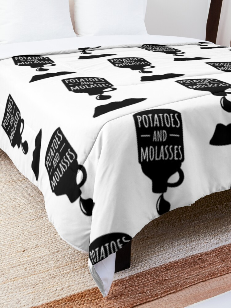 Alternate view of Potatoes and Molasses Black Silhouette Comforter