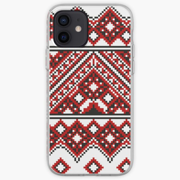 #Ukrainian #Embroidery, #CrossStitch, #Pattern iPhone Soft Case