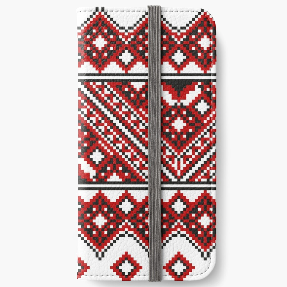 #Ukrainian #Embroidery, #CrossStitch, #Pattern iPhone Wallet