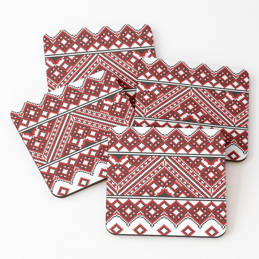 #Ukrainian #Embroidery, #CrossStitch, #Pattern Coasters (Set of 4)