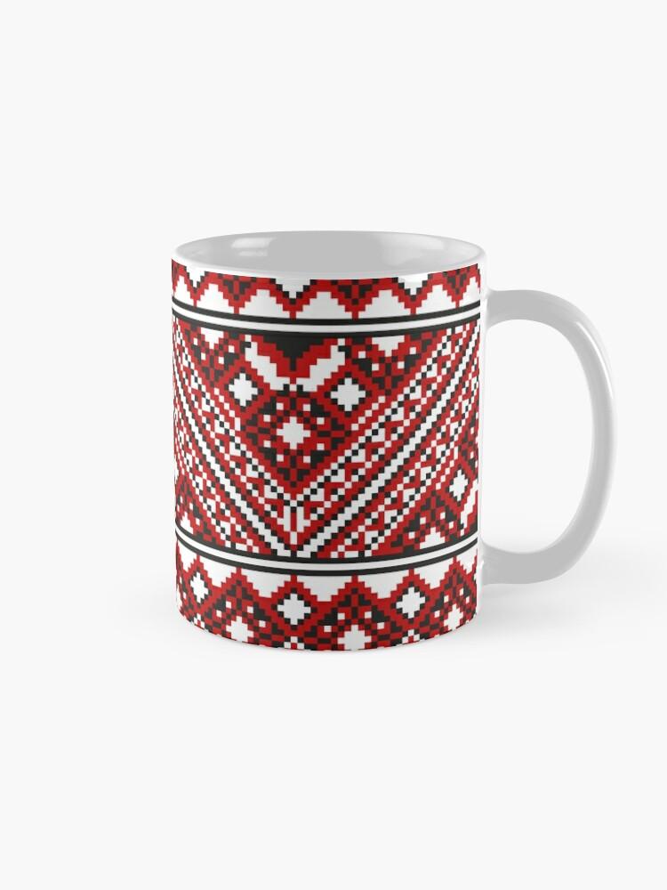 Alternate view of #Ukrainian #Embroidery, #CrossStitch, #Pattern Mug