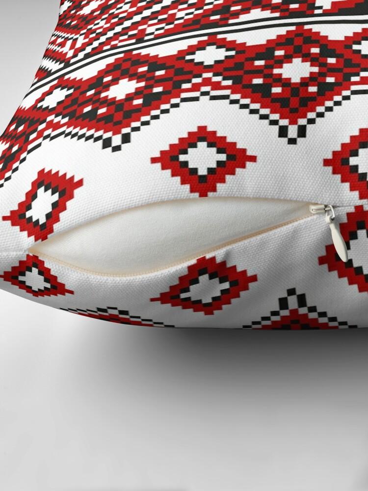 Alternate view of #Ukrainian #Embroidery, #CrossStitch, #Pattern Throw Pillow