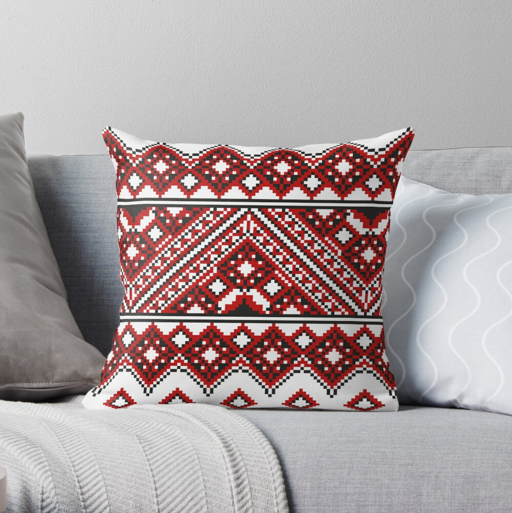 #Ukrainian #Embroidery, #CrossStitch, #Pattern: Throw Pillow