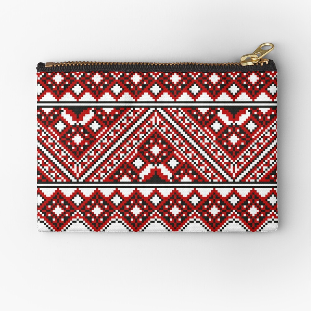 #Ukrainian #Embroidery, #CrossStitch, #Pattern Zipper Pouch