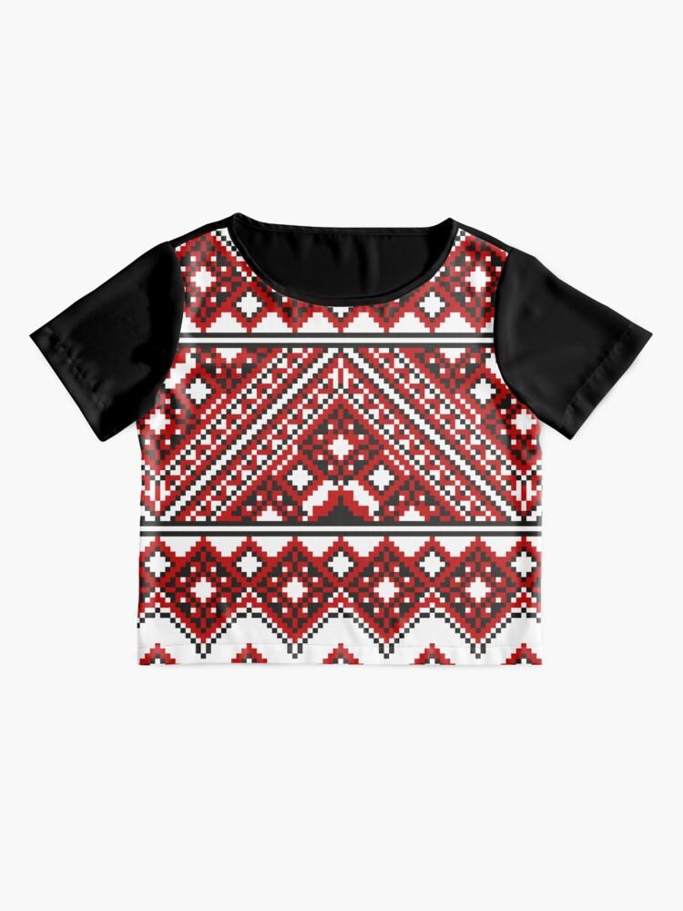Alternate view of #Ukrainian #Embroidery, #CrossStitch, #Pattern Chiffon Top