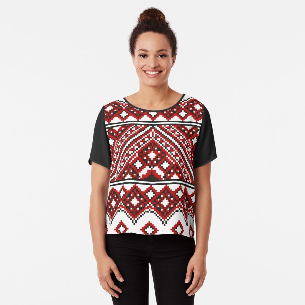 #Ukrainian #Embroidery, #CrossStitch, #Pattern Chiffon Top