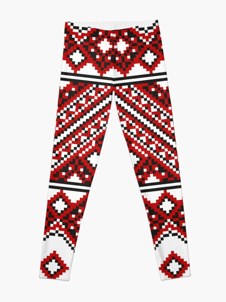 Alternate view of #Ukrainian #Embroidery, #CrossStitch, #Pattern Leggings