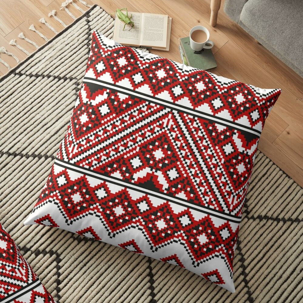 #Ukrainian #Embroidery, #CrossStitch, #Pattern: Floor Pillow