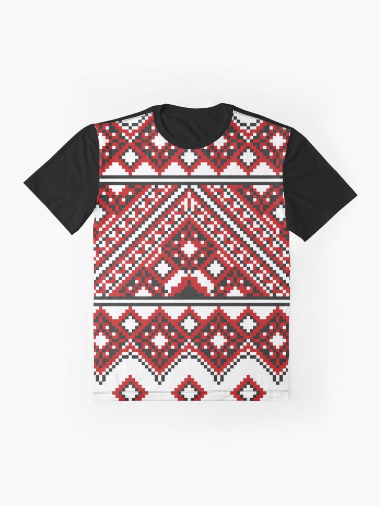 Alternate view of #Ukrainian #Embroidery, #CrossStitch, #Pattern Graphic T-Shirt