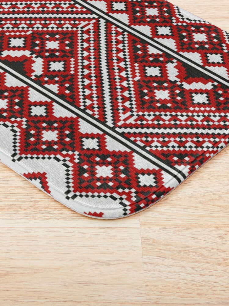 Alternate view of #Ukrainian #Embroidery, #CrossStitch, #Pattern Bath Mat