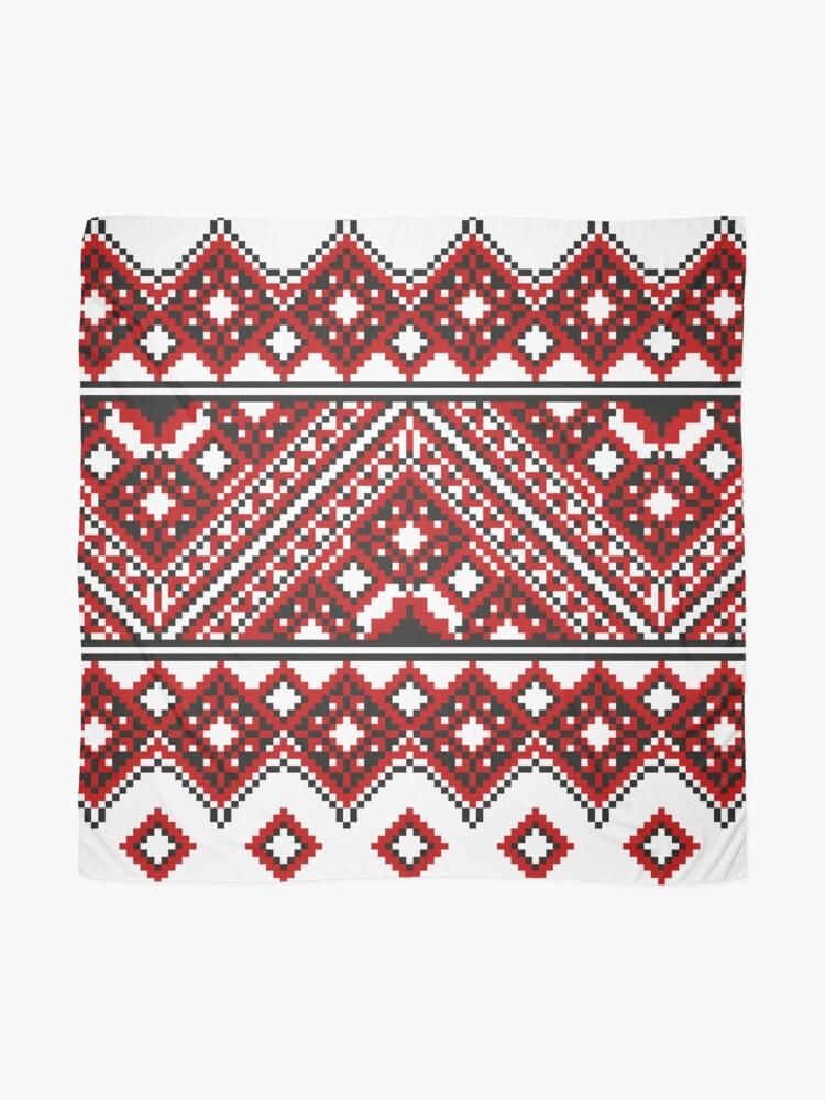 Alternate view of #Ukrainian #Embroidery, #CrossStitch, #Pattern Scarf