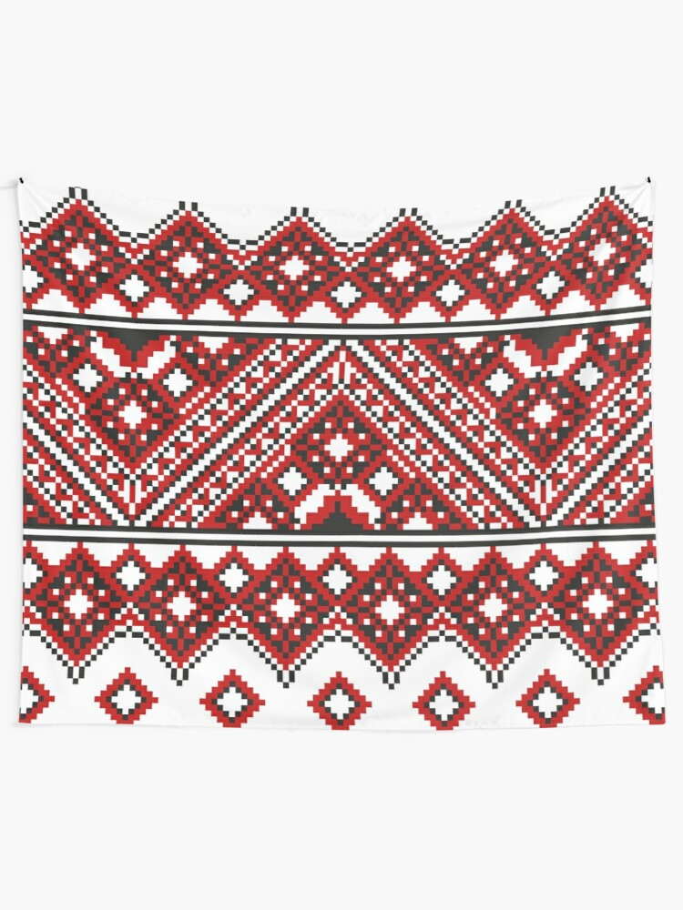 Alternate view of #Ukrainian #Embroidery, #CrossStitch, #Pattern Tapestry