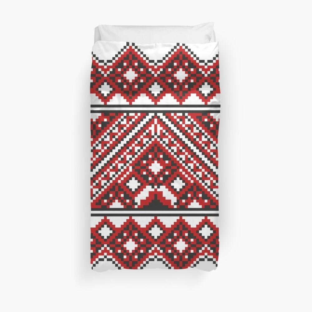 #Ukrainian #Embroidery, #CrossStitch, #Pattern Duvet Cover
