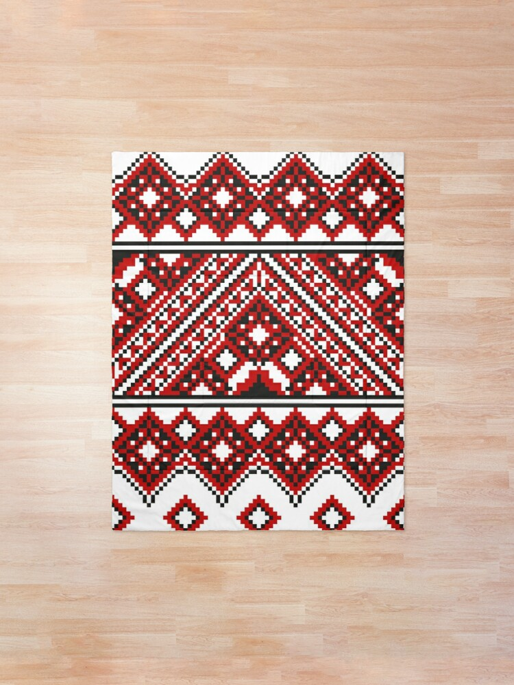 Alternate view of #Ukrainian #Embroidery, #CrossStitch, #Pattern Comforter