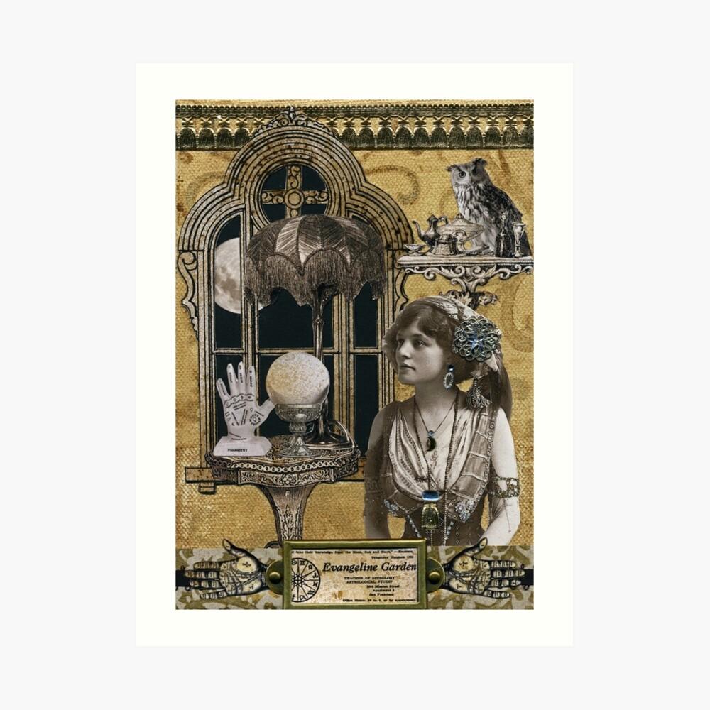 Estudio astrológico de Evangeline Garden Lámina artística
