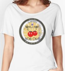Cherry Bob Omb Fire Cracker Label Women's Relaxed Fit T-Shirt