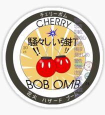 Cherry Bob Omb Fire Cracker Label Sticker