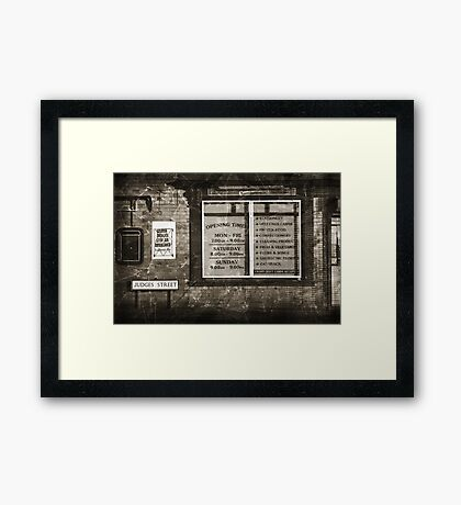 The News On Judges Street Framed Print