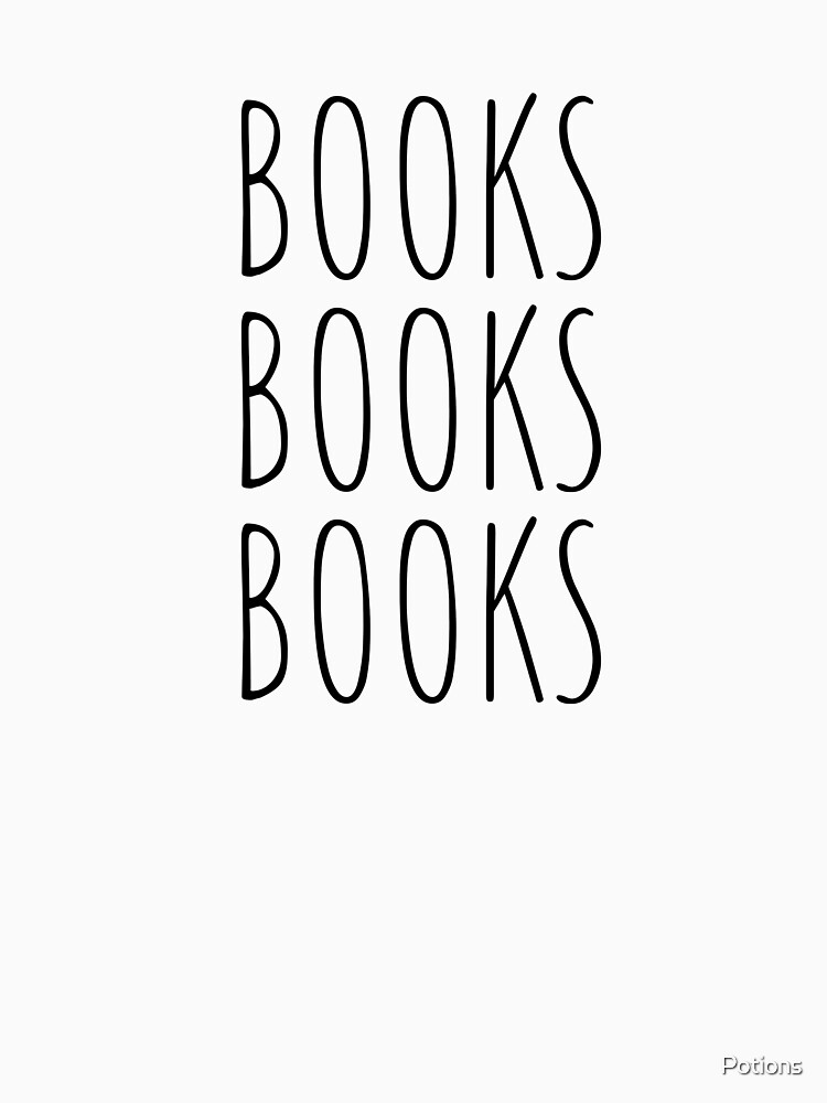 Books Books Books! (Black, Large) by Potions