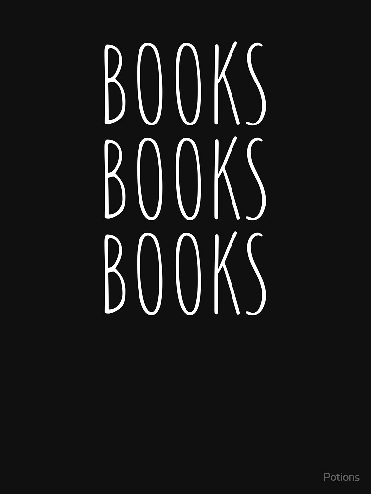 Books Books Books! (White, Large) by Potions