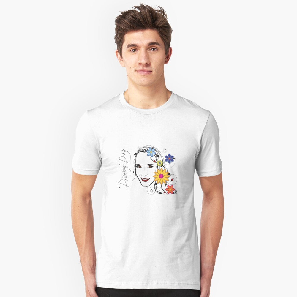 Drawing Day Self Portrait Unisex T-Shirt Front