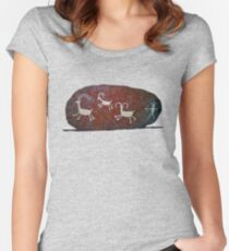 Boulder Petroglyphs Women's Fitted Scoop T-Shirt