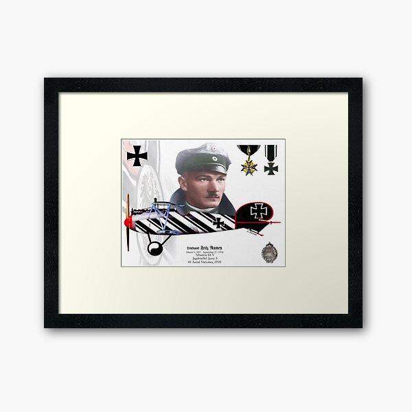 Leutnant Fritz Rumey Framed Art Print