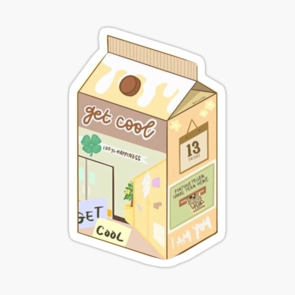 Stray Kids Get Cool Banana Milk uwu cute I AM YOU era  Sticker