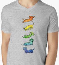 Watercolor Dachshunds Men's V-Neck T-Shirt