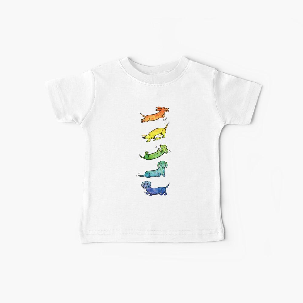 Watercolor Dachshunds Baby T-Shirt