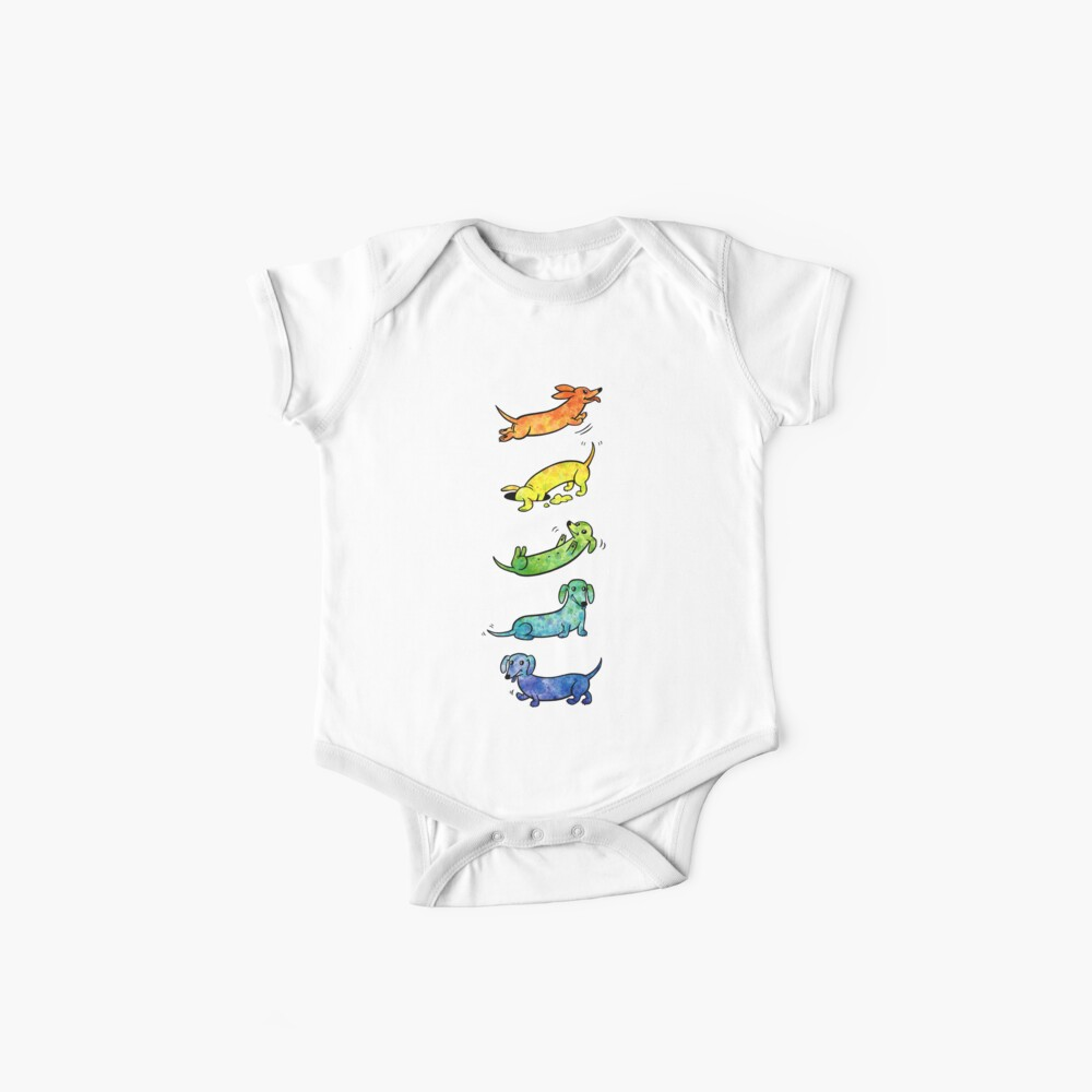 Watercolor Dachshunds Baby One-Piece