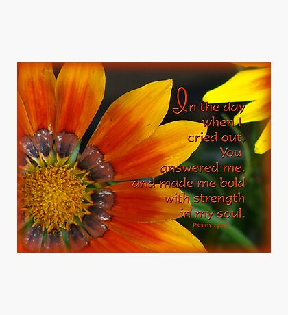 You answered me-scripture Photographic Print