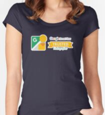 Google Maps   Street View   Trusted Photographer Women's Fitted Scoop T-Shirt
