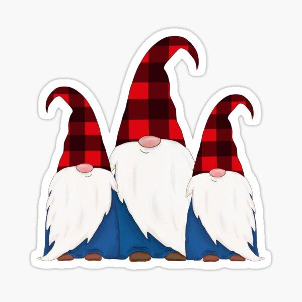 Buffalo plaid gnome Sticker